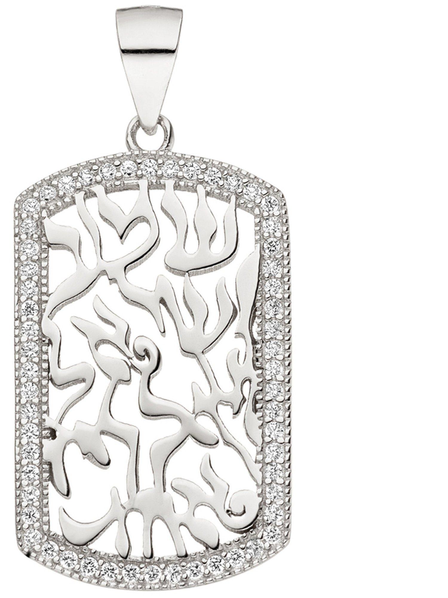 Adelia´s Kettenanhänger 925 Silber mit Zirkonia