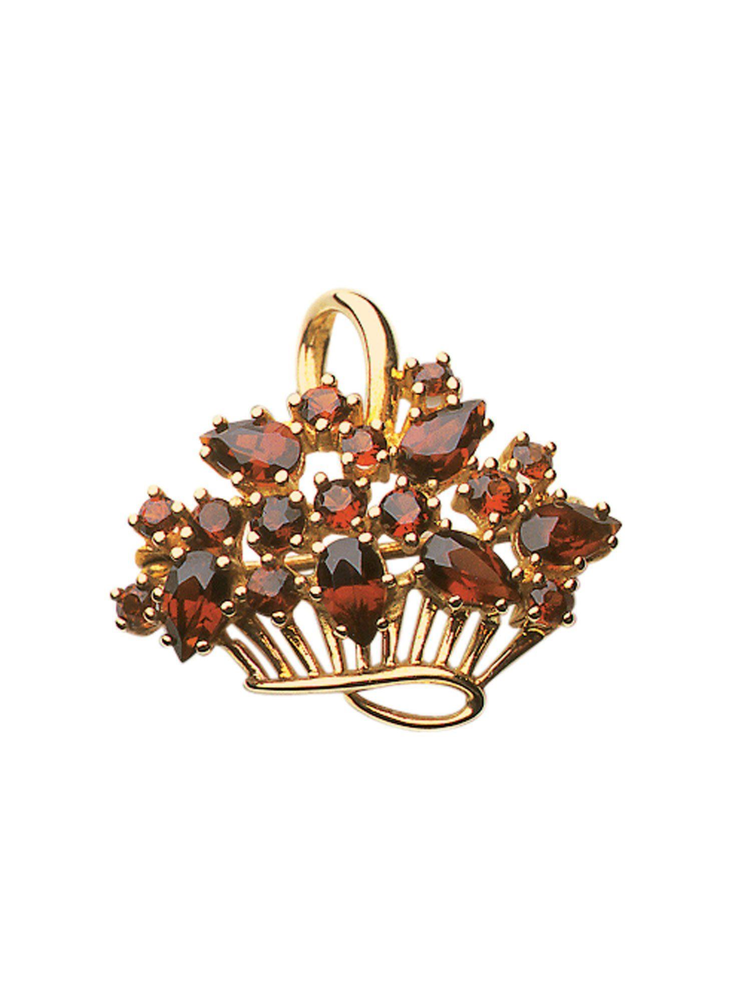 Adelia´s Brosche »Gold Broschen« 8 k 333 Gelbgold mit Granat