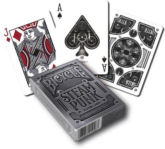 BICYCLE Spiel, »Poker Kartensatz Silver Steampunk«