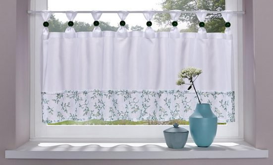 Scheibengardine »Flora«, Home affaire, Schlaufen (1 Stück)