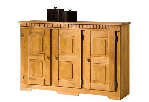 Home affaire Sideboard »Lisa«, aus schönem massivem Kiefernholz, wahlweise mit 3 oder 4 Türen erhältlich