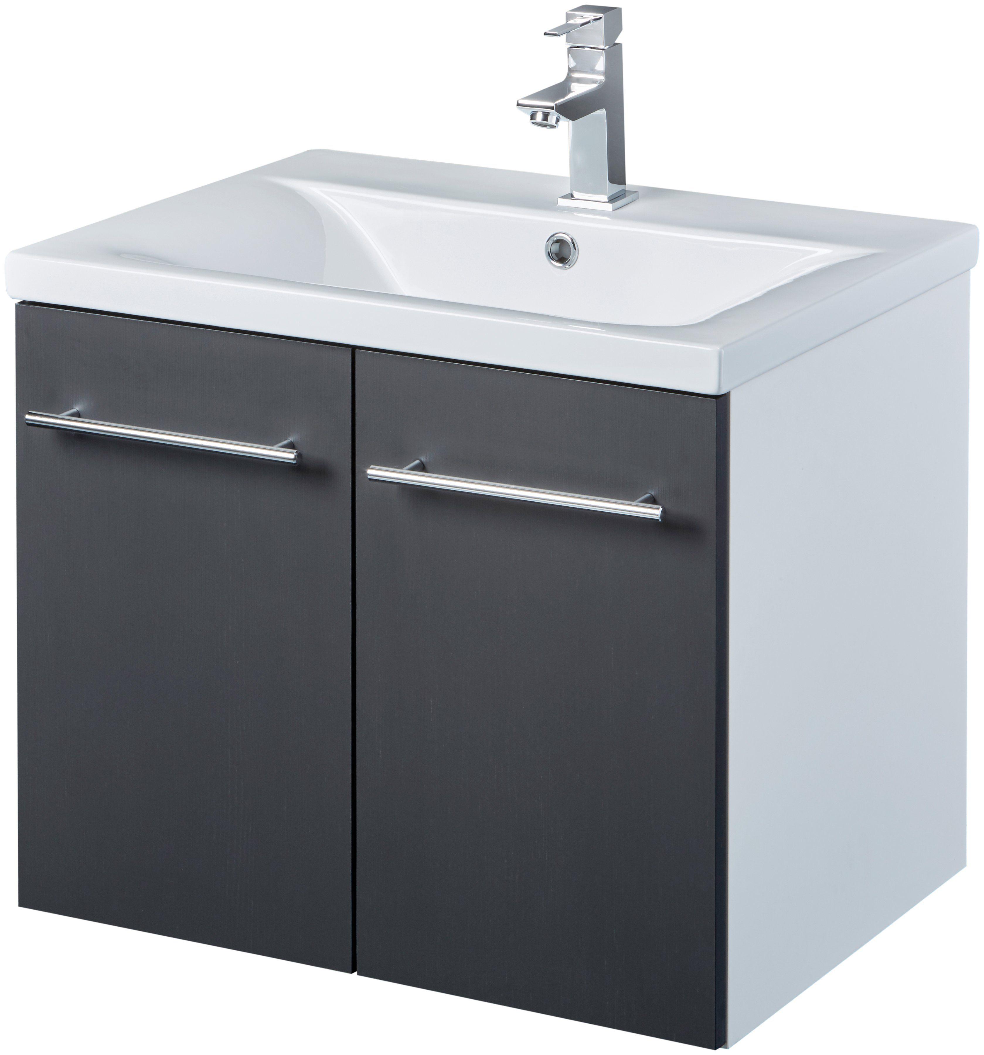 Waschtisch »Baja«, Waschplatz, 62 cm breit, Bad-Set 2-tlg.