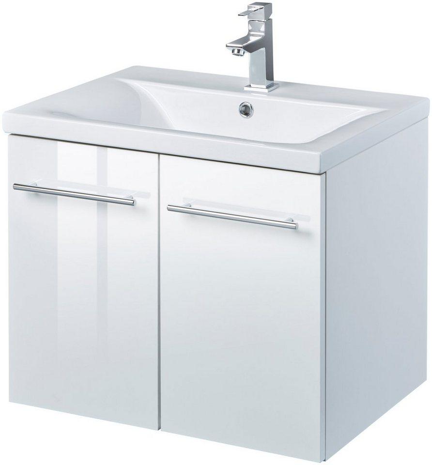 Waschtisch »Baja«, Waschplatz, 62 cm breit, Bad-Set 2-tlg., Edle ...
