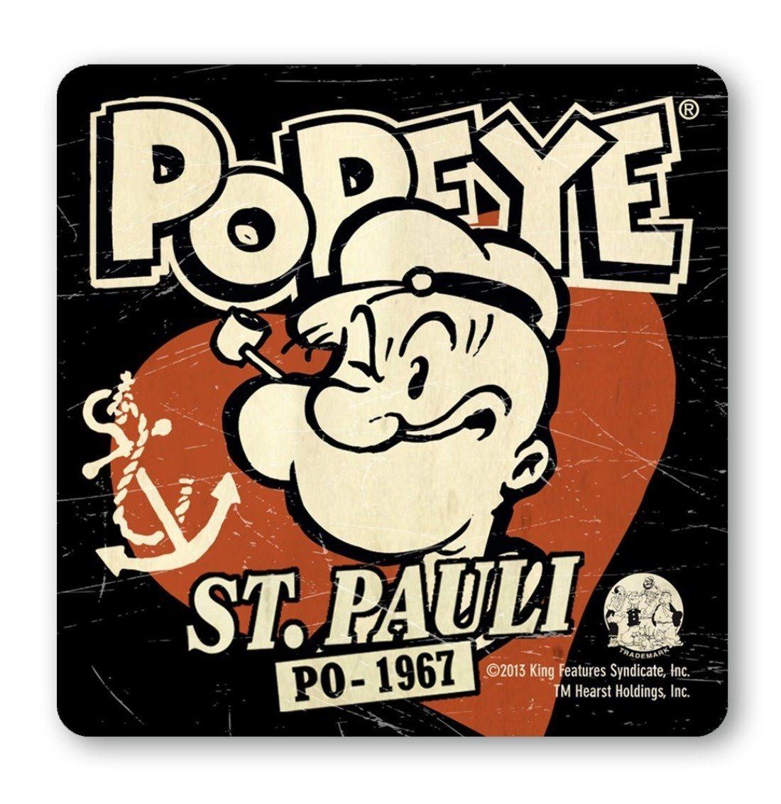 LOGOSHIRT Untersetzer mit Popeye-Logo in Retro-Optik