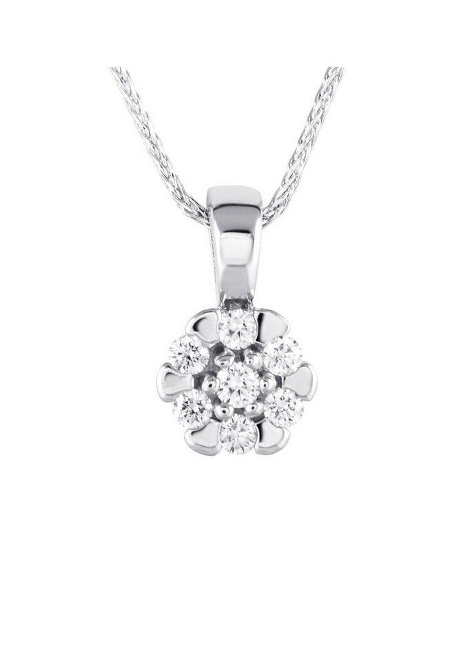 diamond line goldkette mit diamant anh nger kaufen otto. Black Bedroom Furniture Sets. Home Design Ideas