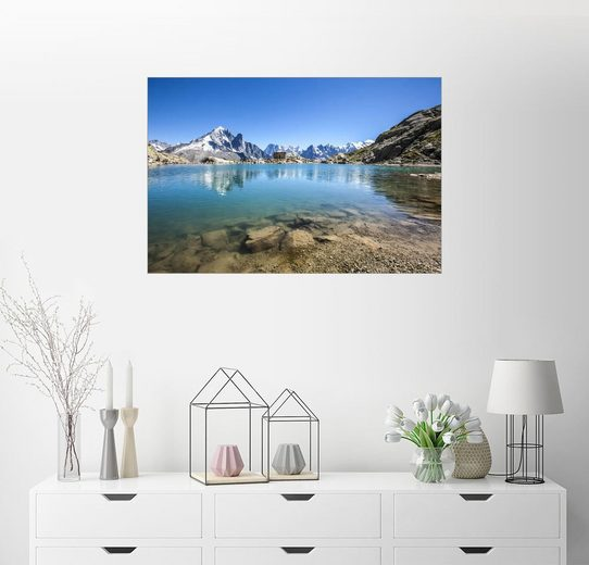 Posterlounge Wandbild - Roberto Sysa Moiola »Mont Blanc spiegelt sich in Lacs des Chéserys...«