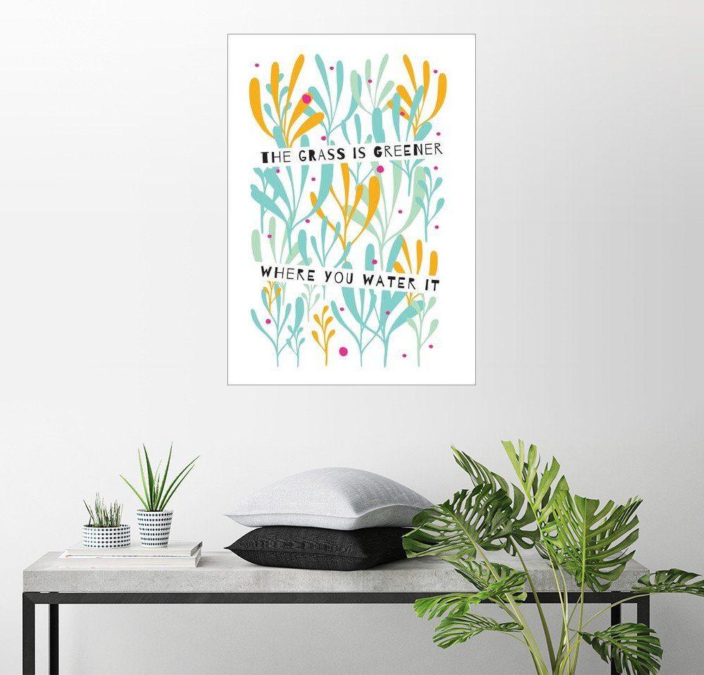 Posterlounge Wandbild - Susan Claire »Das Gras ist grüner, wo das Wasser ist«