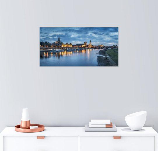 Posterlounge Wandbild - Jan Christopher Becke »Dresden Skyline Panorama, Sachsen, Deutschland«