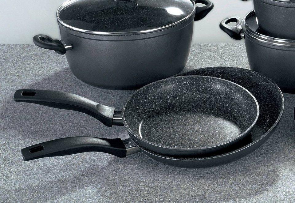 SET: Pfannen, Stoneline (2tlg.) in schwarz