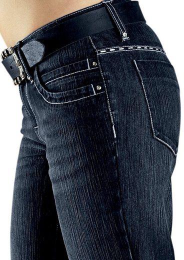 Cheer Bootcut-Jeans Chris, mit Glitzersteinchen