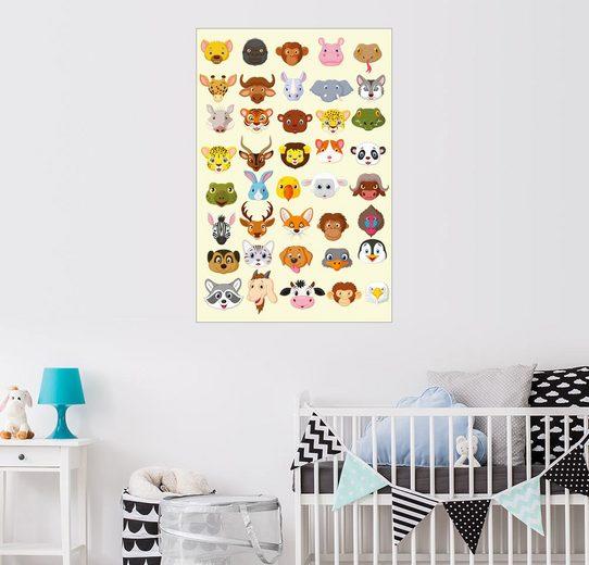 Posterlounge Wandbild - Kidz Collection »Tiercharaktere«