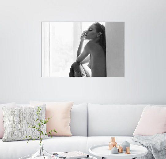 Posterlounge Wandbild »Verträumtes Akt-Model«