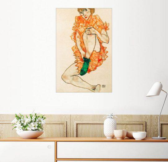 Posterlounge Wandbild - Egon Schiele »Der grüne Strumpf«