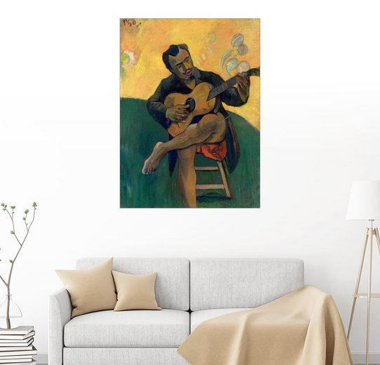 Posterlounge Wandbild, Der Gitarrenspieler