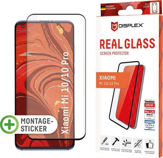 Displex »DISPLEX Real Glass Panzerglas für Xiaomi Mi 10/10 Pro (6,7), 10H Tempered Glass, mit Montagesticker, Full Cover« für Mi 10 Pro, Displayschutzfolie
