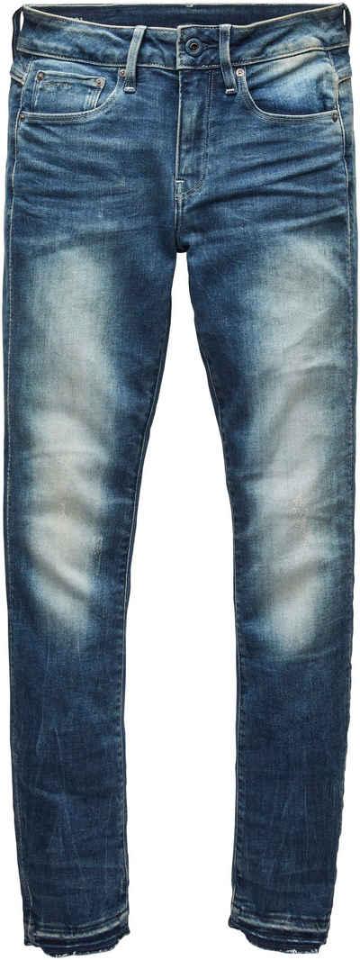 G-Star RAW Ankle-Jeans »3301 Mid Skinny Ankle Jeans« Saumabschluss mit leicht ausgefranster Kante