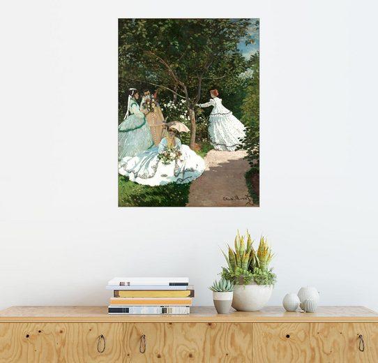 Posterlounge Wandbild - Claude Monet »Frauen im Garten«