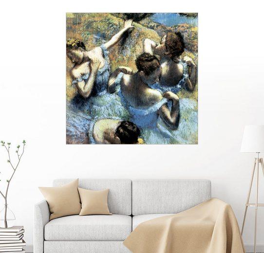 Posterlounge Wandbild - Edgar Degas »Tänzerinnen in blau«