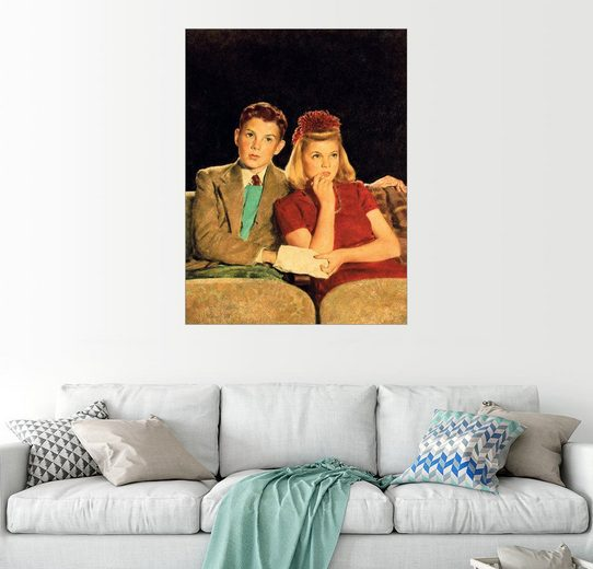 Posterlounge Wandbild - Joseph Christian Leyendecker »Ein spannender Film«