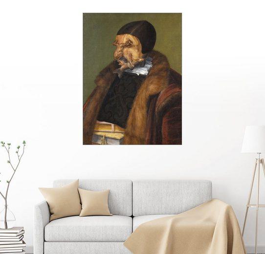 Posterlounge Wandbild - Giuseppe Arcimboldo »Der Jurist«
