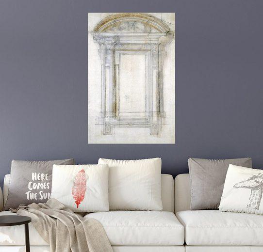 Posterlounge Wandbild - Michelangelo »Studie eines Fensters«
