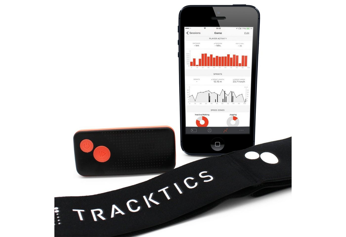 TRACKTICS Hüftgürtel »Gps Fußball Tracker« | Accessoires > Gürtel > Hüftgürtel | Schwarz | TRACKTICS
