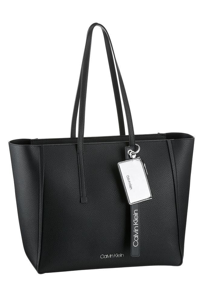 Calvin Klein Shopper »CK BASE«, mit abnehmbarem Logo Anhänger