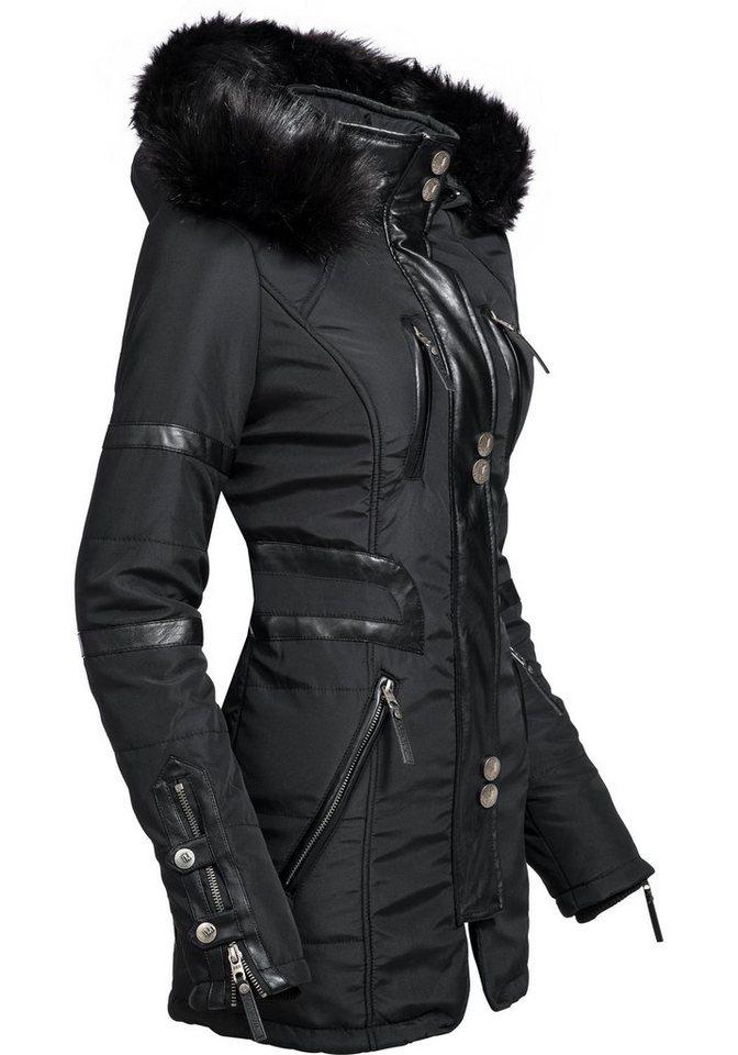 f6392509ace2 Navahoo Wintermantel »Moon« stylischer Damen Winter Jacke mit Kapuze ...
