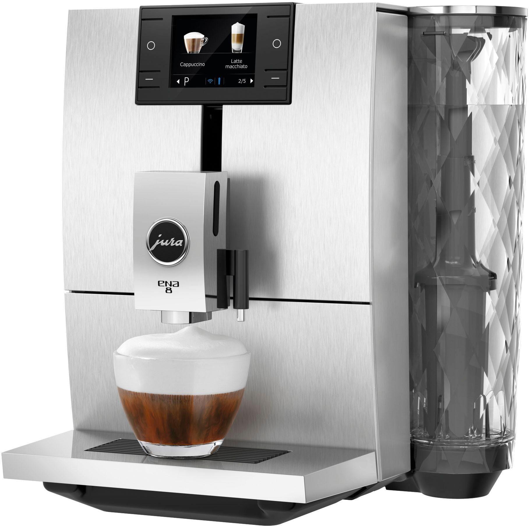 JURA Kaffeevollautomat ENA 8 Signature Line, Wireless ready und kompatibel mit JURA App J.O.E.®, Smart Connect im Lieferumfang enthalten