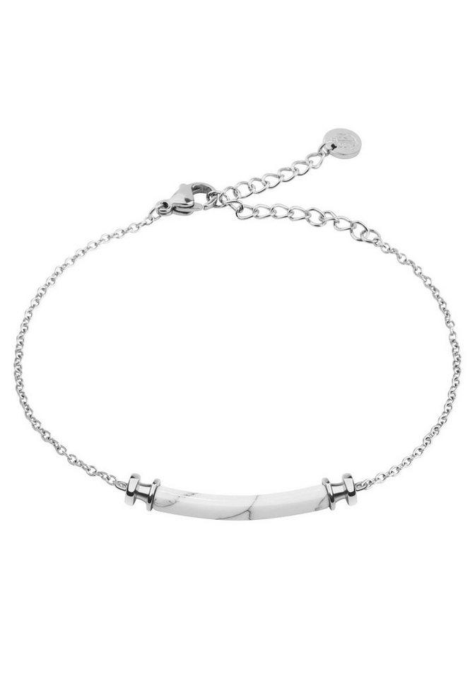PAUL HEWITT Armband »Armkette Starboard Edelstahl Marble, PH-B-WM-S« mit Kunstmarmor | Schmuck > Armbänder > Armketten | Grau | PAUL HEWITT