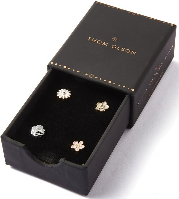 THOM OLSON Pin-Set »CHARM, CBTO028« (Set, 4 tlg., inkl. Etui) | Accessoires > Etuis | Goldfarben | THOM OLSON