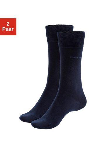Boss Socken »2P RS Uni« (2 Paar) mit gerippten Bündchen