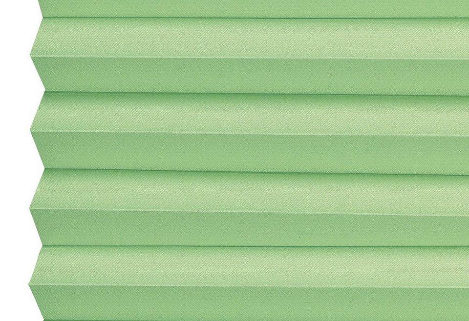 Dachfenster-Plissee, Sunlines, Wunschmaß, Lichtschutz in maigrün