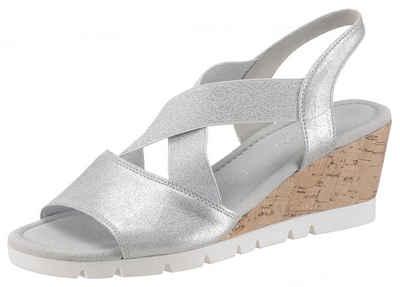 Sandalen Clarks Sandale, Metallic Look, flach Besten