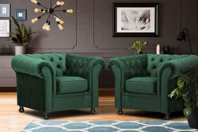 Home affaire Sessel »Chesterfield Home«, mit edler Knopfheftung und typischen Armlehnen