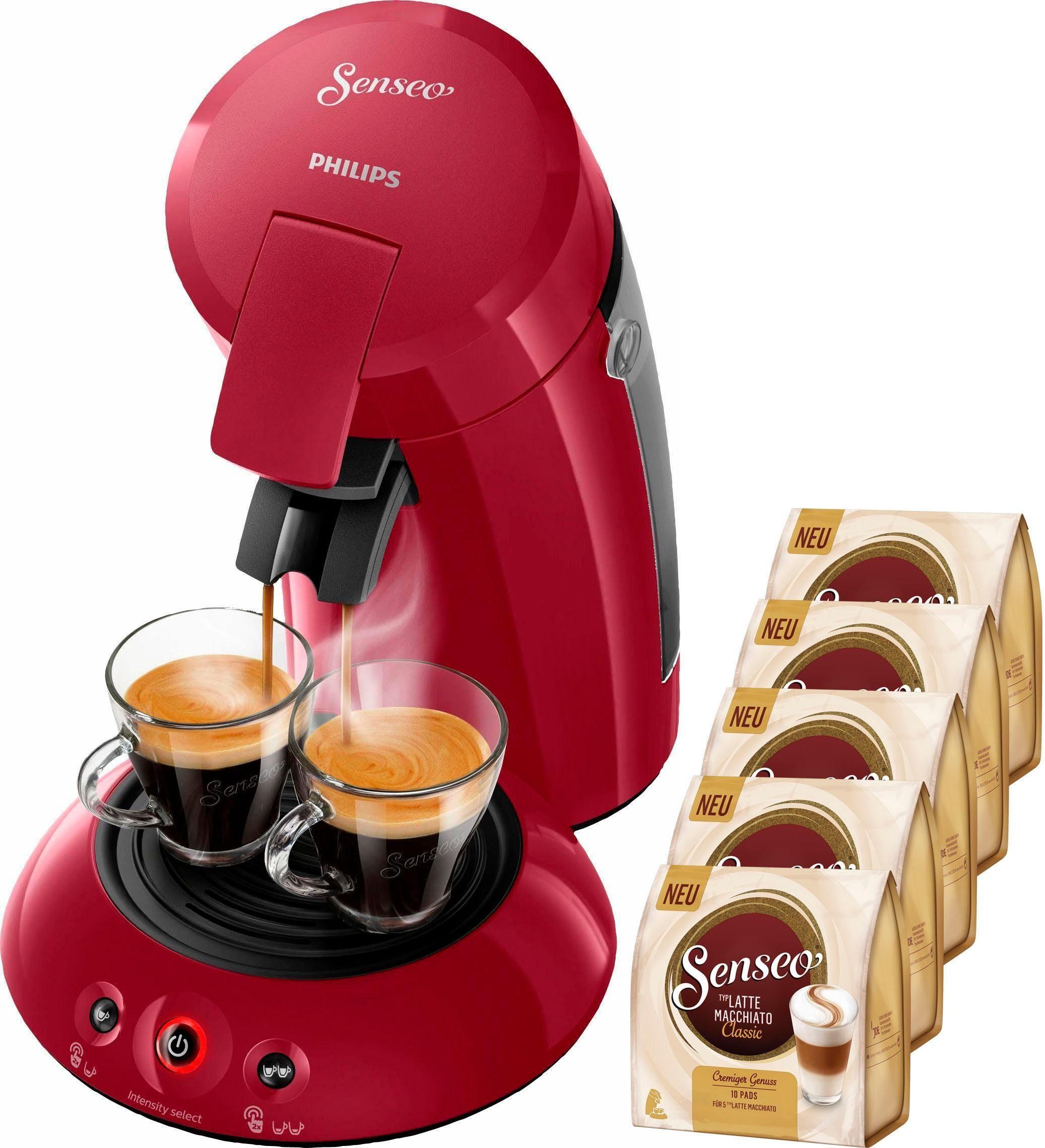 Senseo Kaffeepadmaschine HD6554/90 New Original, inkl. 5 Pakete Kaffeepads