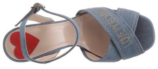 Love heel High Moschino Mit Akzenten sandalette Goldfarbenen ff0qxEOw