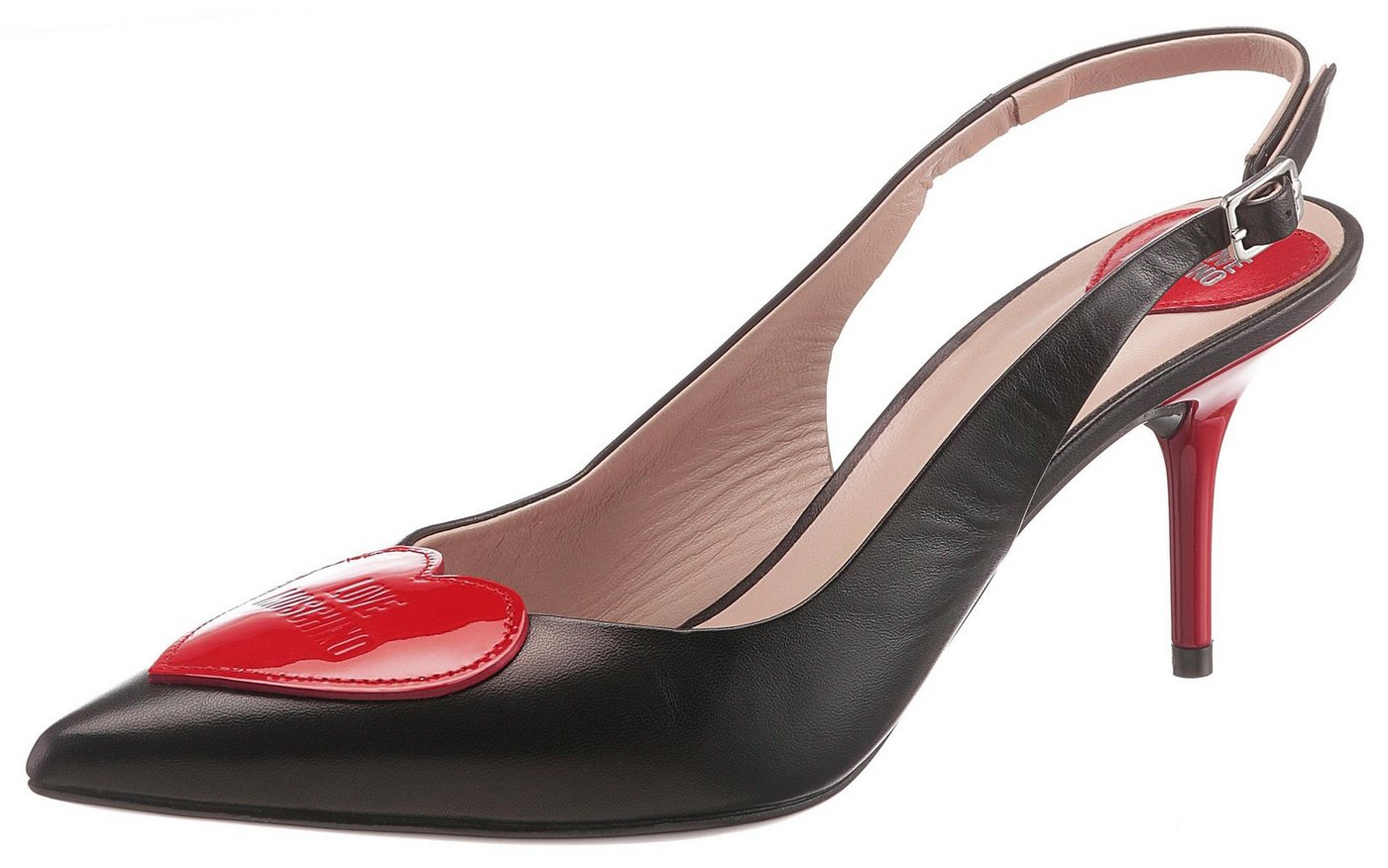 LOVE MOSCHINO Slingpumps mit Herz-Applikation