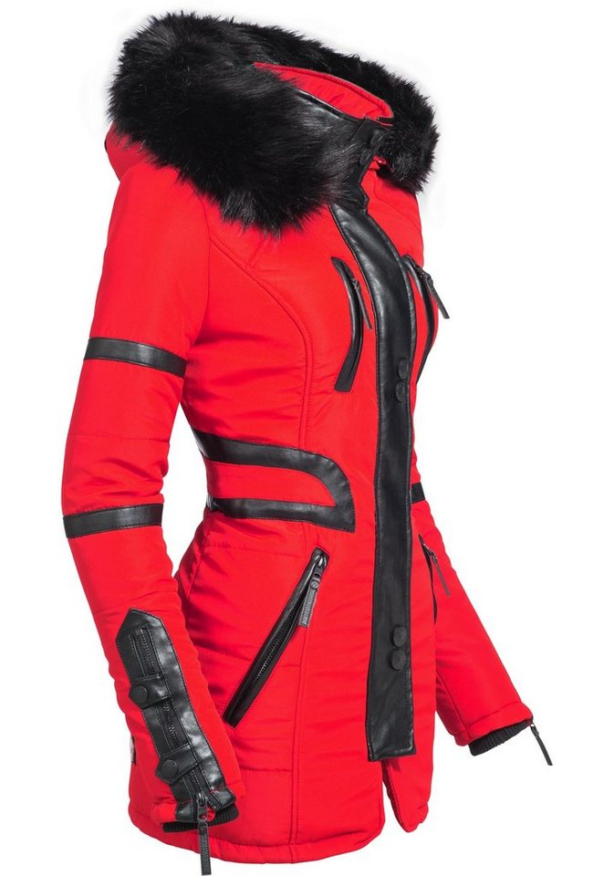 Navahoo Wintermantel »Moon« stylischer Damen Winter Jacke mit Kapuze ... 03fbd61cd3