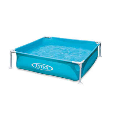 Intex Planschbecken »Intex 57173 - Mini Frame Pool, blau«, BxLxH: 122x122x30 cm