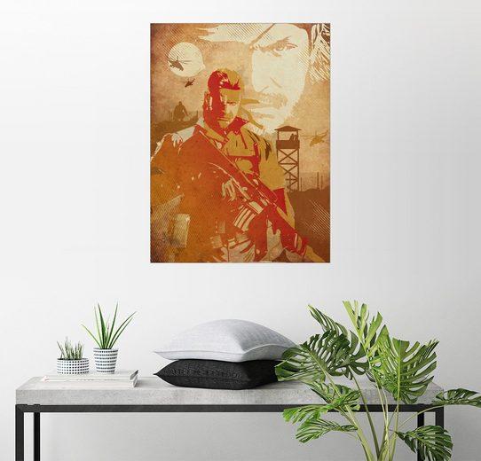 Posterlounge Wandbild - 2ToastDesign »Solid Snake videogame inspired art«