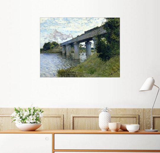 Posterlounge Wandbild - Claude Monet »Eisenbahnbrücke in Argenteuil«