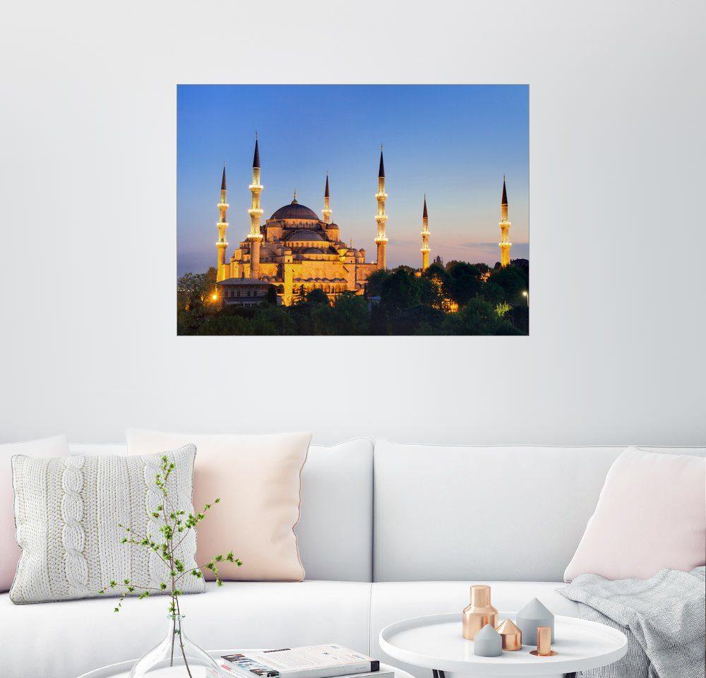 Posterlounge Wandbild - Circumnavigation »Blaue Moschee in der Dämmerung«