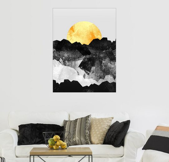 Posterlounge Wandbild - Stephen Wade »Die große goldene Sonne«