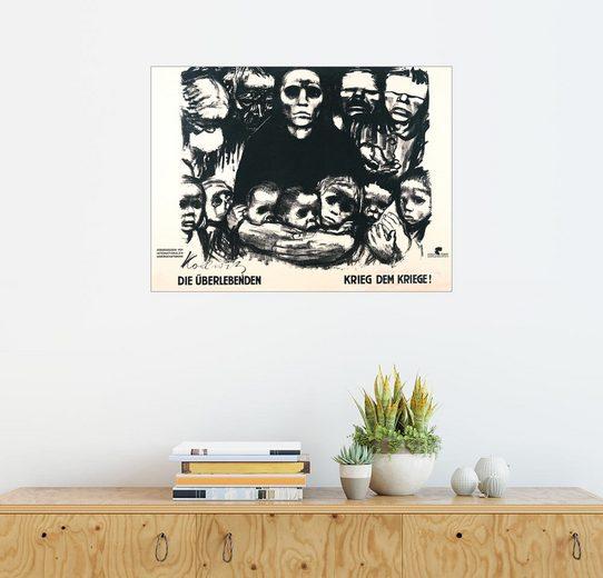 Posterlounge Wandbild - Käthe Kollwitz »Die Überlebenden«