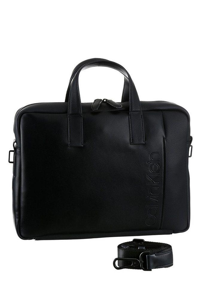 Calvin Klein Messenger Bag »ELEVATED«, mit großem eingeprägtem Logo | Taschen > Business Taschen > Messenger Bags | Schwarz | Calvin Klein