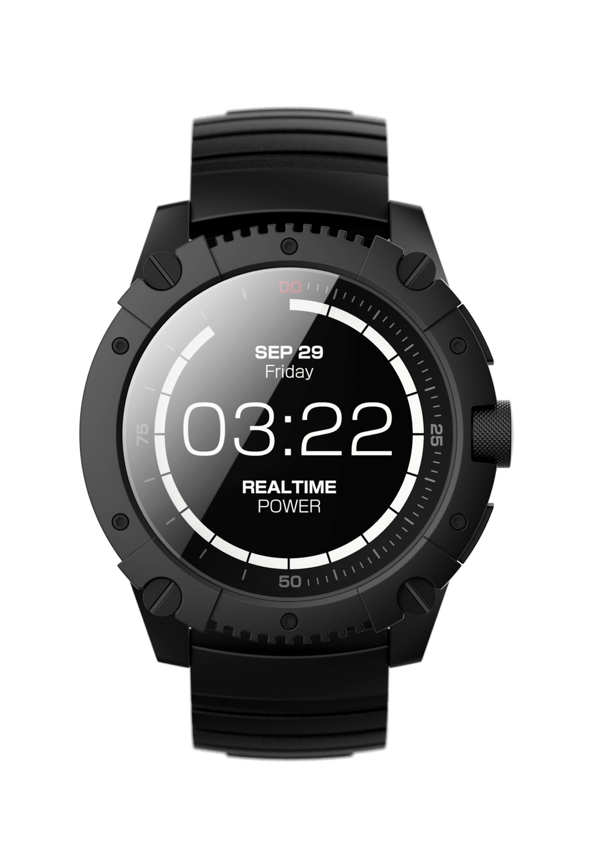 Matrix Industries Smartwatch, ohne Aufladen, mit Silikon-Armband »PowerWatch X«