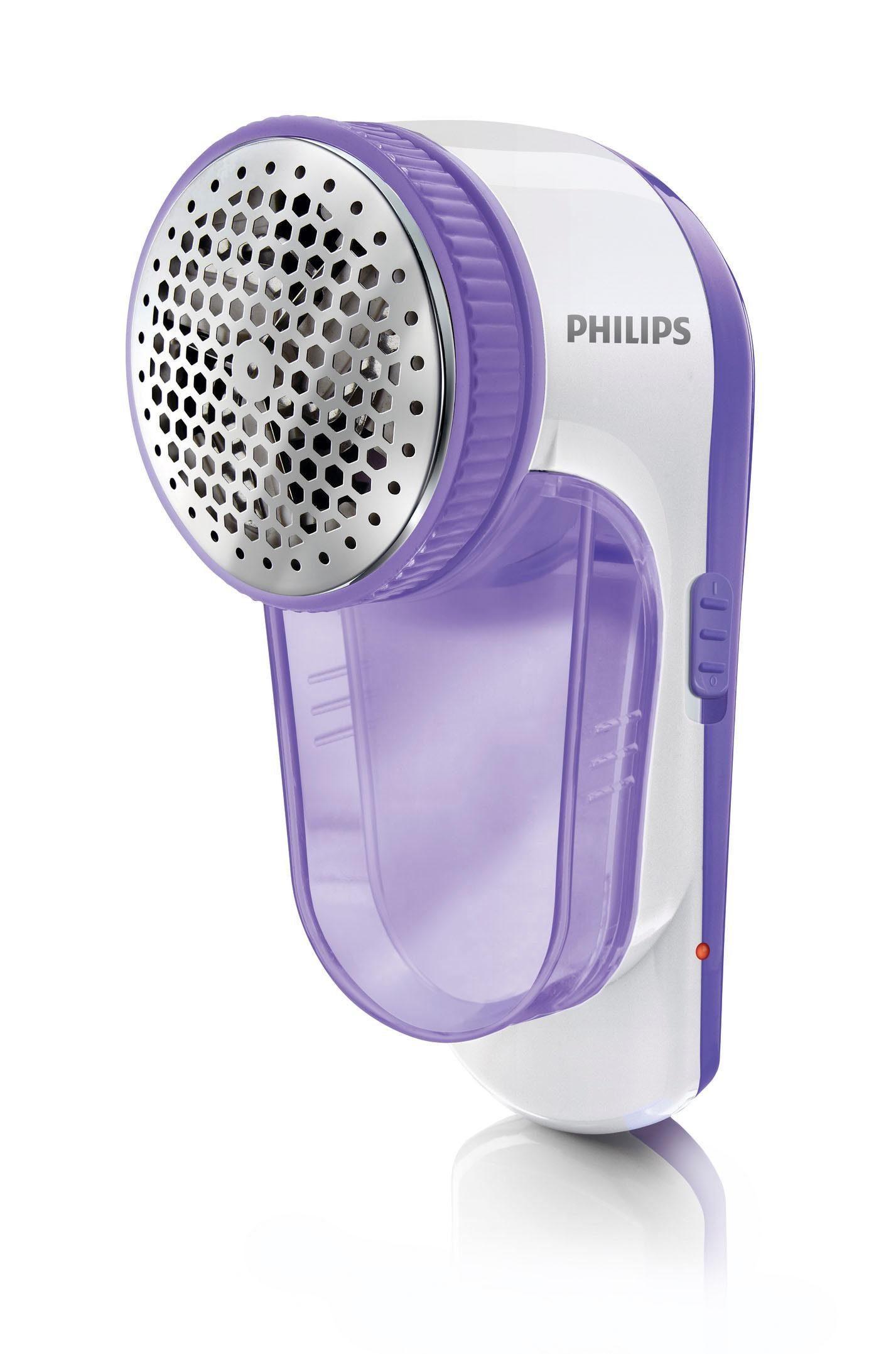 Philips Fusselrasierer GC027/00, Akkubetrieb, über USB aufladbar, flieder