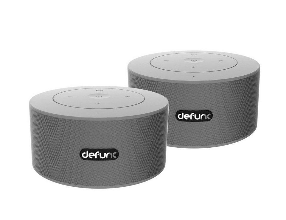 defunc bluetooth lautsprecher d2082 duo mobile stereo 2er set silber online kaufen otto. Black Bedroom Furniture Sets. Home Design Ideas