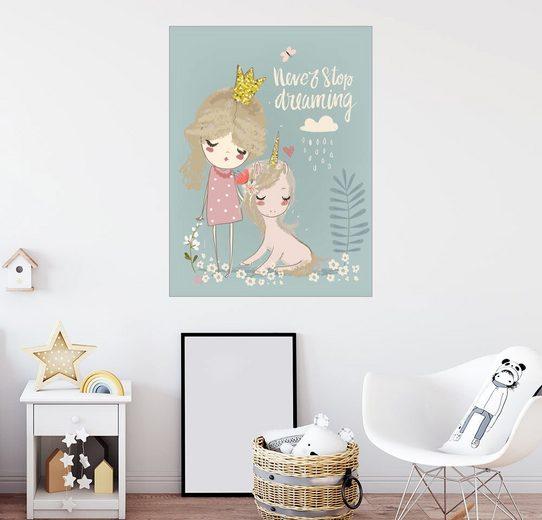 Posterlounge Wandbild - Kidz Collection »Hör niemals auf zu Träumen«